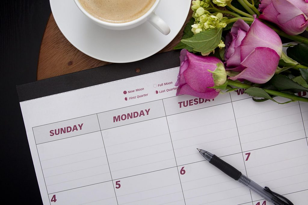 Event planning diary